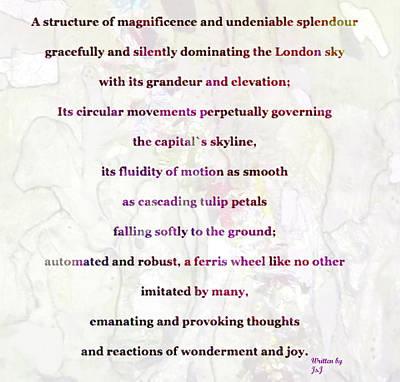 London Eye Poem Poster