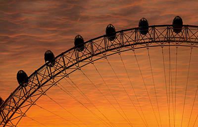 London Eye Sunset Poster by Martin Newman