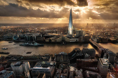 London From The Sky Garden Poster