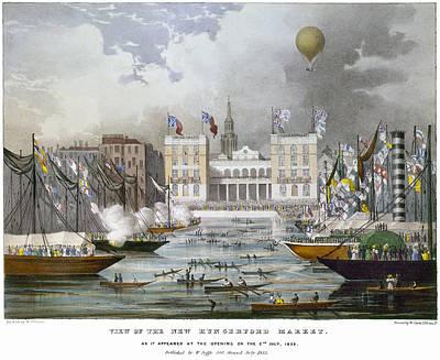 London: Market, 1833 Poster