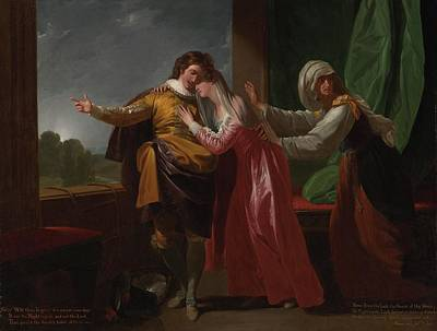 London Romeo And Juliet Poster by Benjamin West