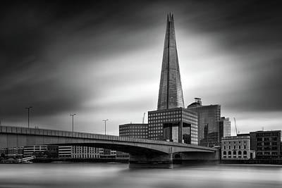 London Skyline In Monochrome Poster