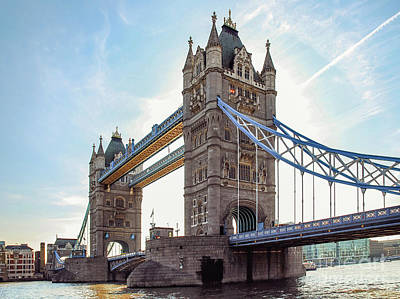 Poster featuring the photograph London - The Majestic Tower Bridge by Hannes Cmarits