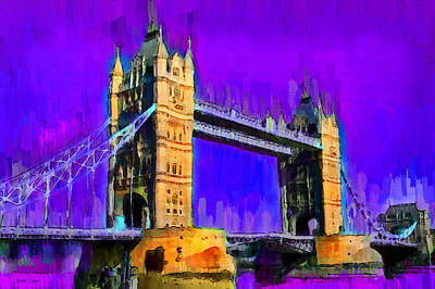 London Tower Bridge 6 - Pa Poster by Leonardo Digenio