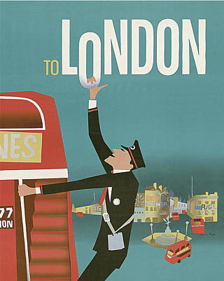 London Travel Poster Poster by Long Shot