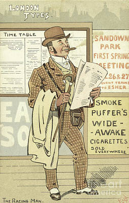 London Types, The Racing Man Poster by Joseph Clayton Clarke