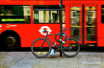 Poster featuring the photograph _london Walking Tours Bicycle by Craig J Satterlee