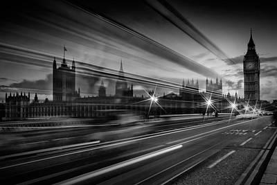 London Westminster Bridge Traffic Poster by Melanie Viola