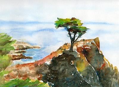 Lone Cypress Pebble Beach Fog Poster