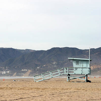 Lone Lifeguard Tower Poster