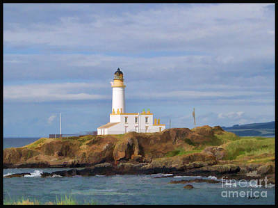 Poster featuring the photograph Lone Lighthouse In Scotland by Roberta Byram
