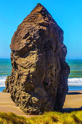Lone Rock Oregon Beach Poster