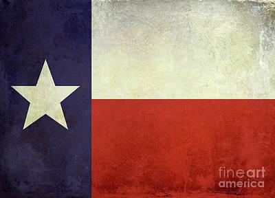 Lone Star Flag Poster by Jon Neidert