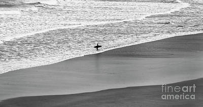 Poster featuring the photograph Lone Surfer by Nicholas Burningham