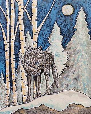 Lone Wolf Poster by Aimee Mouw