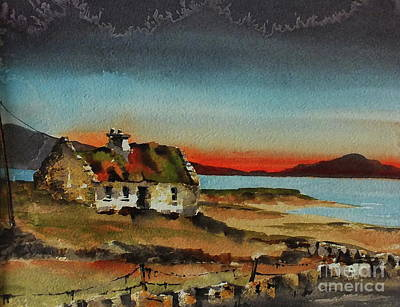 Loneley Cottage Nr Ardara Donegal Poster
