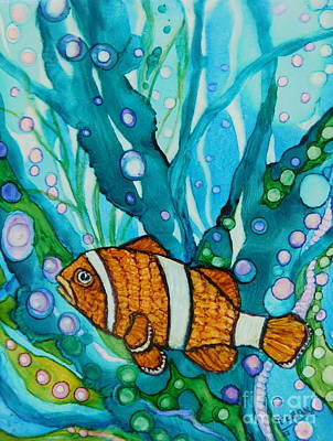 Lonely Clown Fish Poster
