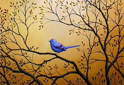 Lonely Night By Amy Giacomelli Bird Art Poster by Amy Giacomelli