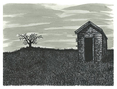 Lonely Outhouse Poster