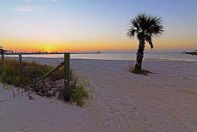 Poster featuring the photograph Long Beach Sunrise - Mississippi - Beach by Jason Politte