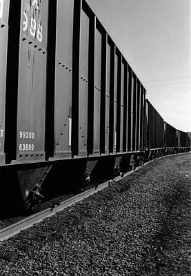 Poster featuring the photograph Long Black Train by Tara Lynn