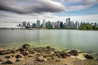 Poster featuring the photograph Long Exposure Of Vancouver City by Pierre Leclerc Photography