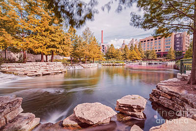 Long Exposure Photograph Of The San Antonio River Pearl River And Hotel Emma - San Antonio Texas Poster