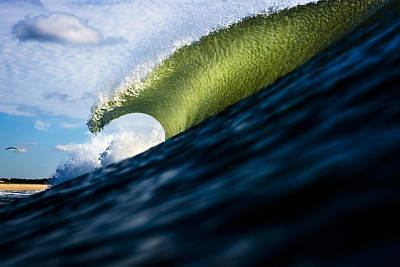 Long Island Blue Sky Green Wave Poster