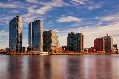 Poster featuring the photograph Long Island City Skyline Nyc by Susan Candelario
