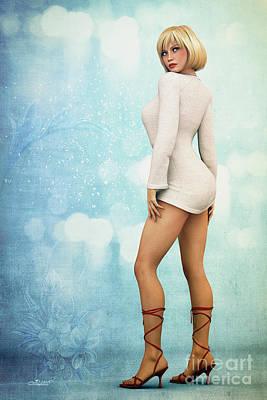 Poster featuring the digital art Long Legs by Jutta Maria Pusl