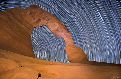 Long Night At Delicate Arch Poster