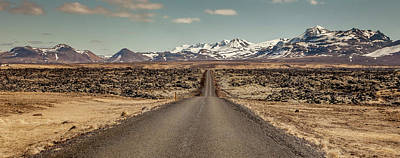 Poster featuring the photograph Long Road Ahead by Wade Courtney