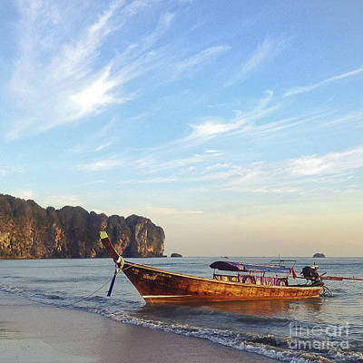 Long Tail Boat Krabi Thailand Poster by Ivy Ho