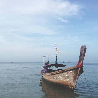 Poster featuring the photograph Long Tail Boat Stillness by Ivy Ho