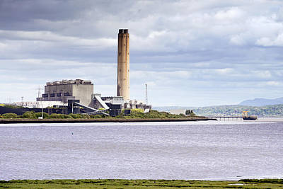 Poster featuring the photograph Longannet Power Station by Jeremy Lavender Photography
