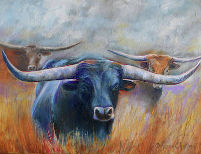 Longhorn Country Poster by Karen Kennedy Chatham
