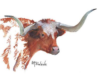 A Texas Longhorn Portrait Poster
