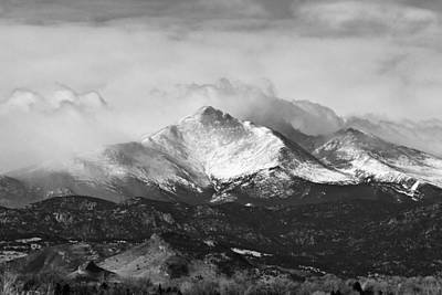 Longs Peak And A Mean Storm Poster