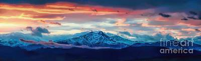 Longs Peak At Sunset Poster