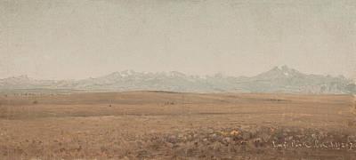 Longs Peak Colorado Poster by Sanford Robinson Gifford