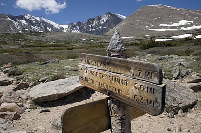 Longs Peak Seen From Chasm Lake Trail Poster by Scott S. Warren