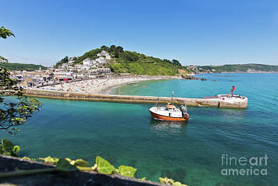 Looe Beach And Banjo Pier Cornwall Poster