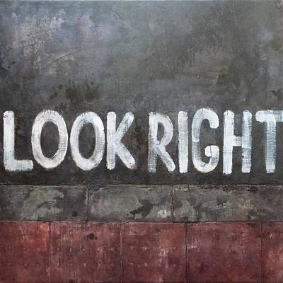 Look Right Poster by Alvis Zemzaris