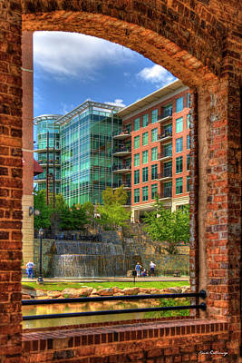 Looking Across The Reedy River Greenville South Carolina Art Poster