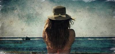 Looking At The Horizon Poster
