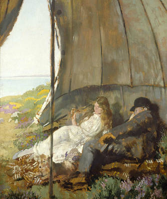 Looking At The Sea Poster by William Orpen