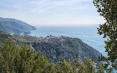 Looking Back At Corniglia Italy Cinque Terre Poster