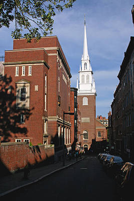 Looking East Towards The Old North Church Poster by Brian M Lumley