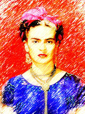 Looking For Frida Kahlo Poster by Madalena Lobao-Tello