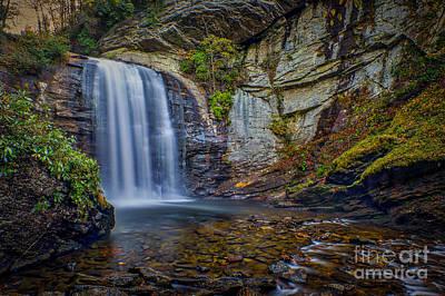 Looking Glass Falls In The Blue Ridge Mountains Brevard North Carolina Poster